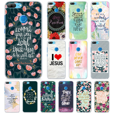 Bible Verse Philippians Jesus Phone Cases For Huawei Honor 8 9 10 Lite Hard PC Case Cover For Honor 4C 6C Pro 6x 7x 8x 7s Case