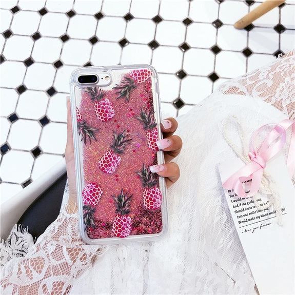 Previous. Bling Glitter Dynamic Cactus Pineapple Liquid Quicksand Phone Back  For IPhone 6 6 S 7 Case ... 9d4db8434f88