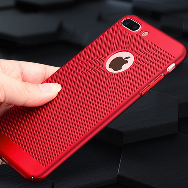 Breathing Simple Wear Air Shell For IPhone 5s 6s 6 Plus SE PC Back Shell Cover For IPhone X XS XR XS Max 7 7Plus 8 8Plus Capa