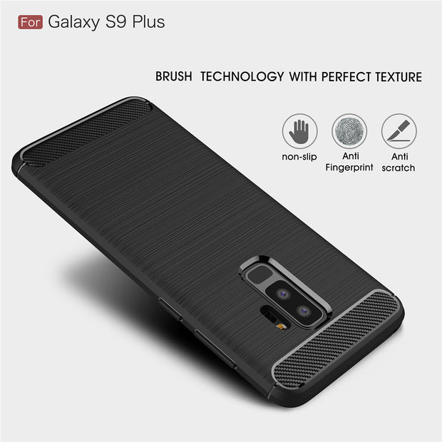 Carbon Fiber Back Case For Samsung Galaxy S8 S9 Plus Note8 Capa Anti-resisitant Phone Cases For Samsung Galaxy S6 S7 Edge Funda