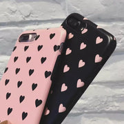 Cartoon Love Heart Pattern Couple Phone Cases For Iphone 6 Case Peach Heart Soft Silicone Cover For Iphone 6 6S 7 7Plus Coque