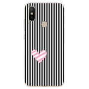 Case Cover For Fundas Xiaomi Redmi Note 5 Case Heart Love Couple Soft Silicone TPU Printing Luxury Protective Back Bags Coque
