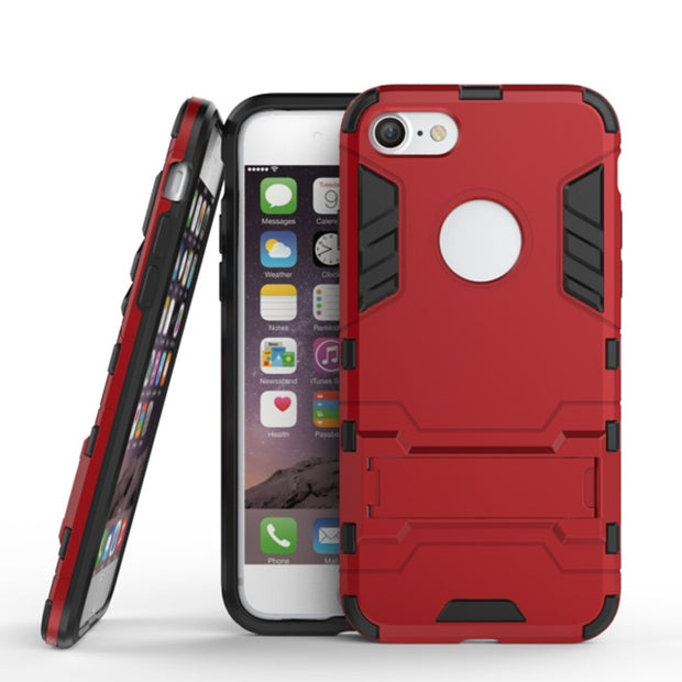Case For Apple IPhone 8 (4.7inch) Shockproof Rugged Hybrid Armor Cases For IPhone 7 Cover With Kickstand Phone Accessories