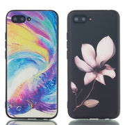 Case For Huawei Honor 6X 7C 7X S Honor8 9 10Lite V9 Play V10 Girl Flower Painted Relief Soft TPU Silicon Cover Coque Fundas Capa