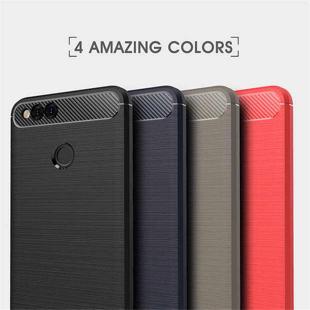 Case For Huawei P20 P10 P9 P8 Lite Capa Carbon Fiber Anti Knock Brushed TPU Back Cases For Huawei P20 Pro P8 P9 Lite 2017 Couqe