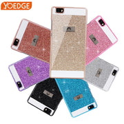 Case For Huawei P7 P8 P8 Lite P9 P9 Lite Hard Flash Plastic Diamond Bling Crystal For Huawei P8 Lite 2017 P9 Lite Case Cover