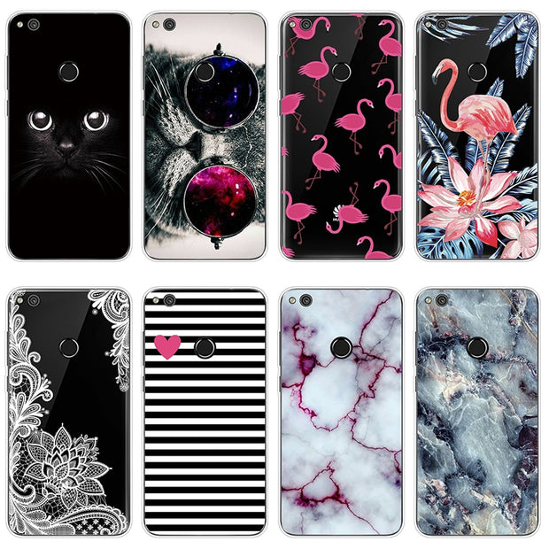 Case For Huawei P9 Lite Mini Plus 2017 Case Flamingo Marble Rubber FOR Huawei P9 Lite 2017 Case Fashion For Huawei P9 Plus Capa