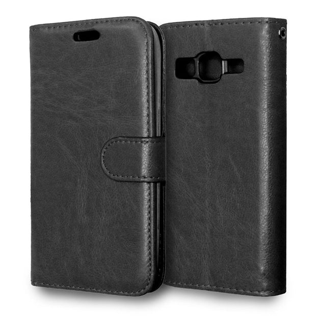 $ Case For Samsung Galaxy Core Prime G360 G360H G360F Luxury Wallet Leather Flip Cover For Coque Samsung Galaxy Core Prime G360