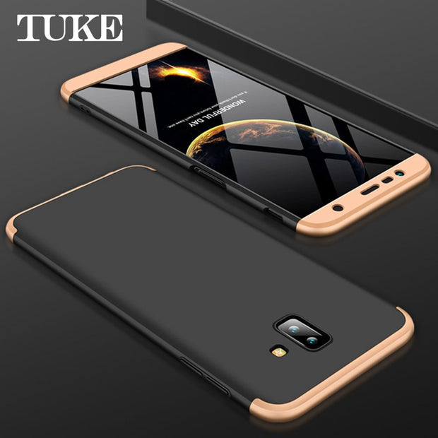 quality design 99daa f8477 Case For Samsung J6 Plus 360 Full Protection Waterproof Dirt-resistant  Anti-knock Design Cover For Samsung J 6 Plus Case Coque