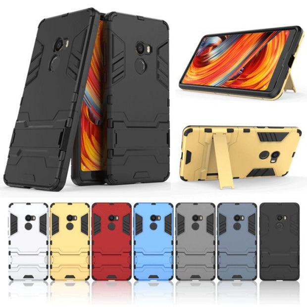 Case For Xiaomi MIX 2 (5.99inch) Shockproof Rugged Hybrid Armor Cases For Xiaomi Mi MIX2 Cover With Kickstand Phone Accessories