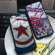 Case For IPhone 7 6 6s Plus 5 5S SE 8 8plus X Luxury Soft Silicon Phone Cover Superman Captain America Phone Shell Coque Fundas