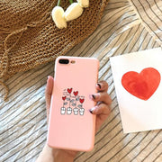 Case For Iphone 7 Cute Animal Flamingo Pink PC Hard Plastic Phone Case Cover Coque For Iphone 6 6S 7Plus 6 S 6Plus 8 8Plus
