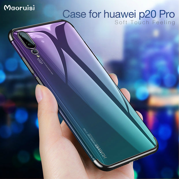 Case For Huawei P20 Pro Soft TPU Plating Cover For Huawei P20 Lite /Huawei P20 Flexible Silicon Cases Seamless Shell Back Cover