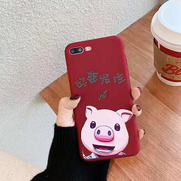 iphone xs Max Cases 3d Cartoon Pet Pig