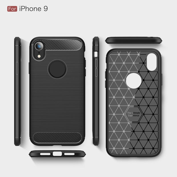 Case For Iphone Xs Max Case Cover For Iphone Xr Case TPU Carbon Fiber Pattern Phone Full Cover For Iphone XR Stylish Case Cover