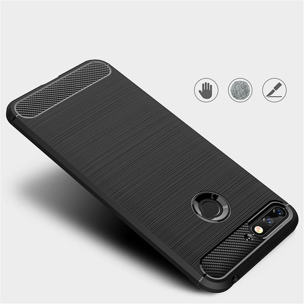 Cases For Huawei Honor 7A Y6 2018 Cover Carbon Fiber Brushed Phone Case For Huawei Y6 2018 Couqe Housing