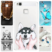 Chocolates Cat Dog Butterfly For Huawei P8 P9 Mini Mate 10 P10 Lite 2017 Cases Ultra Thin Originality Luxury Durable Phone Cover