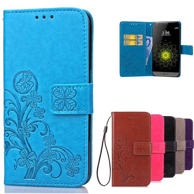 Colorful Wallet Flip Leather Case For LG G5 Cover Book Style Phone Case For LG G5 Lgg5 Lg5 Case With Card Slots Holder Stand