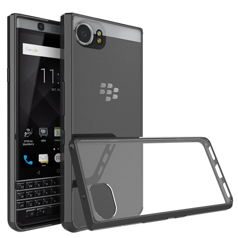 on sale e30f7 4d07f Coque For Blackberry Key One Case Hard Plastic Acrylic Clear Transparent  Phone Case For Blackberry Keyone Case Cover