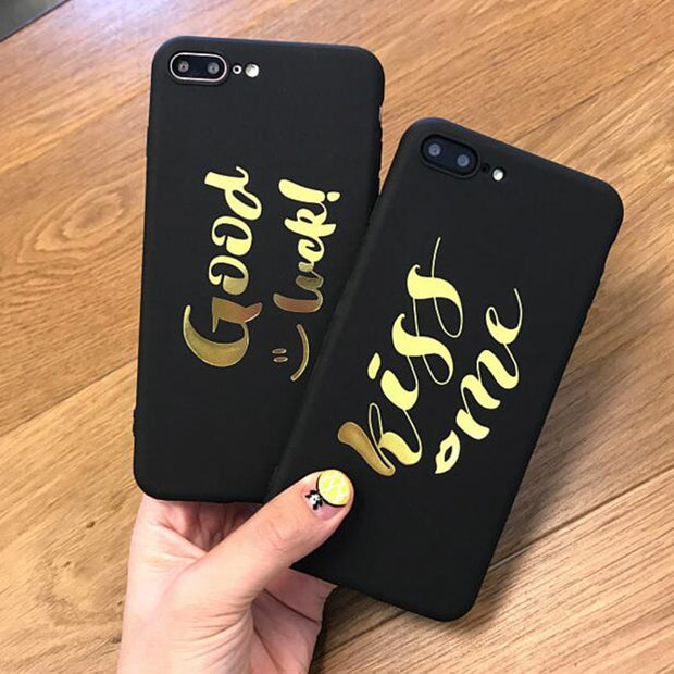 Coque For Iphone 6s Beautiful Gold Letter Soft Silicone TPU Case For Iphone 6 S 6S 6Plus 7 7Plus 8Plus 8 Plus X Phone Case