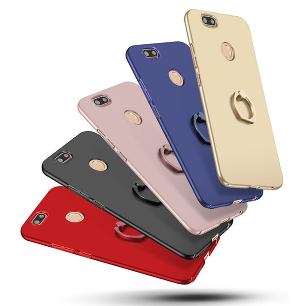 Cover For Xiaomi Redmi 6 6A Case With Finger Ring Matte Phone Back Cover Funda Coque
