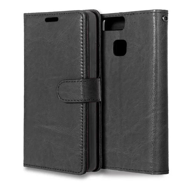 Crazy Horse Flip Leather Wallet Case Cover For Huawei Ascend P9 Back With Stand Holder Cover Coque Capinha