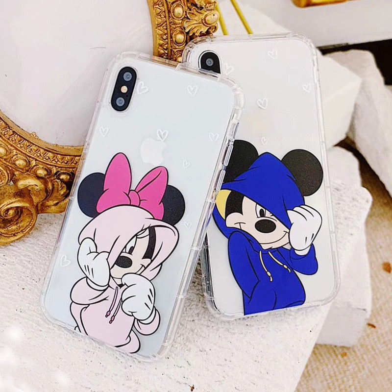 Cute Couple Crystal Phone Case Cover