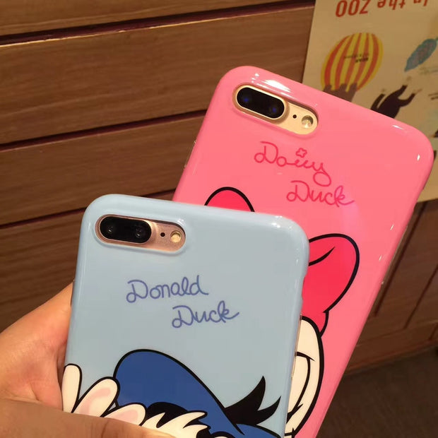 Cute Cartoon Mickey Minnie Soft Phone Case For IPhone 6 6s Plus 7 8 Plus X XR XS MAX Winnie Pooh Donald Duck Coque Back Cover