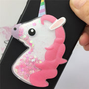 Cute Cartoon Unicorn Liquid Quicksand Glitter Case For Motorola Moto M XT1662 X1663 Cover Owl Coque For Moto M Cover Fundas