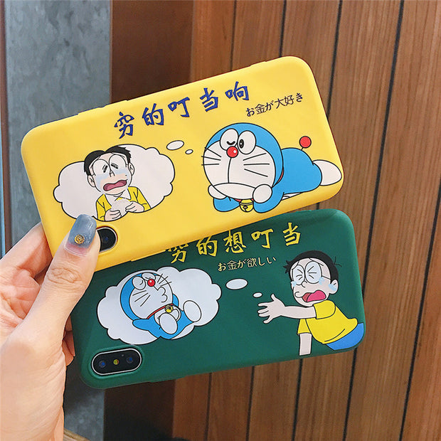 Cute Doraemon Phone Cases For IPhone 7 8 6 6S Plus Case Cartoon Silicone Capa Soft TPU Back Cover Case For IPhone X XS MAX XR