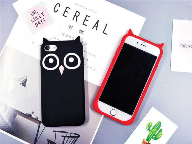 Cute Phone Bags & Case For Iphone 5 5S Fundas 3D Owl Silicone Cartoon Soft Phone Cases Cover For IPhone SE/5/5S Thin Coque Capa
