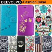 DEEVOLPO Case For Apple Iphone X 8 7 6 6S Plus 5S SE Touch 6 7Plus 6Plus 8Plus PU Leather Silicone Holder Butterfly Cover DP02Z