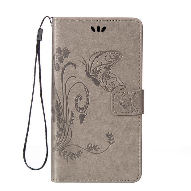 DEEVOLPO Leather Flip Phone Case For Nokia Lumia N730 N625 N630 N640 N650 Silicone Holder Beautiful Butterfly Cover Bags DP02Z