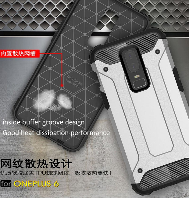 Defender Drop Resistance Anti Hit Case For Oneplus 6 Rugged Hybrid Armor Shield Cover
