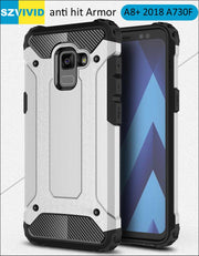 Defender Drop Resistance Anti Hit Case For Samsung Galaxy A8 Plus 2018 A730F 6.0 Inch Rugged Hybrid Armor Cover A8+ 6 Inch