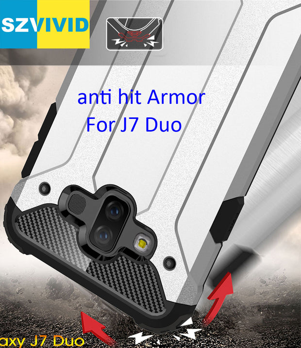 Defender Drop Resistance Anti Hit Case For Samsung Galaxy J7 Duo Rugged Hybrid Armor Shield Cover