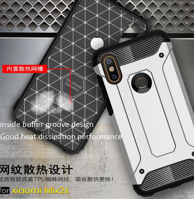 Defender Drop Resistance Anti Hit Case For Xiaomi Mi MIX 2S Rugged Hybrid Armor Shield Cover