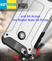 Defender Drop Resistance Anti Hit Case For Xiaomi Redmi Note 5A Prime Pro 5.5 Inch Rugged Hybrid Armor Cover Y1