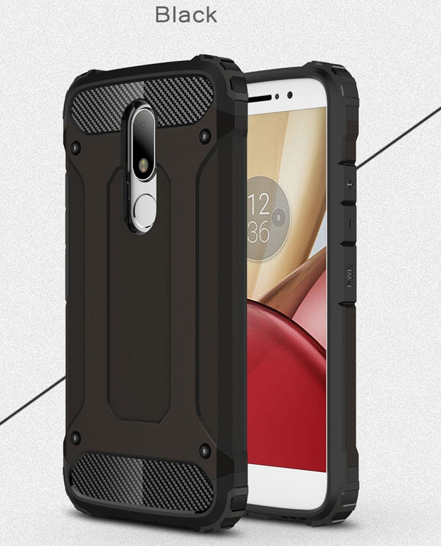 Defender Drop Resistance Anti Hit Cover Case For Motorola Moto M Rugged Hybrid Armor Double Layer PC+TPU Protector XT1662 XT1663