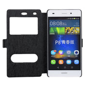 Dual View Window Flip Leather Case For Huawei P8 Lite Phone Bag Protective Cases