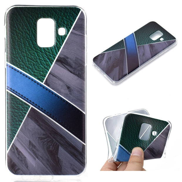 "EACHTEK 5.6"" Fundas For Samsung Galaxy A6 2018 Case Cover TPU Soft Back Phone Coque 6.0"" For Samsung A6 Plus 2018 Case Shell"