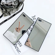 Emaffie For Coque Fundas IPhone 8 Plus Case For IPhone 6 6S 7 8 Plus X Case Tempered Glass Mirror Case For IPhone 7 Phone Cover