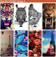 "FS502 Cases Fashion Patterns Cartoon Luxury UV Painted Colored Case For Fly FS502 Cirrus 1 5.0"" Cover Phone Sheer"