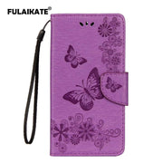 FULAIKATE Butterfly Flip Case For Huawei Mate 10 Lite Embossed Back Cover Leather Holster For MATE 10 LITE Mt Stand Cases