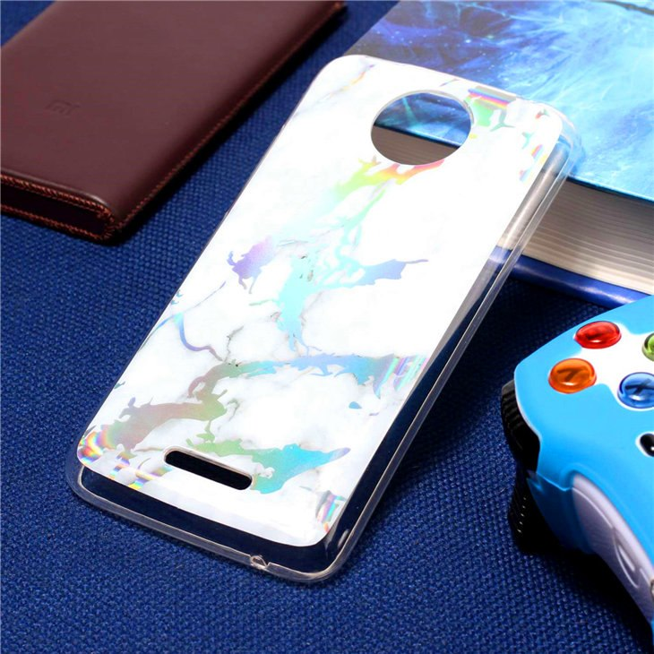 Fashion Color Plated Marble Phone Case For Motorola Moto C Case XT1750  XT1754 5 0 Inch Case Cover Soft TPU Protection Phone Bag