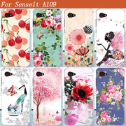 "Fashion Flowers Fruit Soft TPU Case For Senseit A109 Soft Silicone Phone Cases Back Cover For Senseit A109 5.0"" Phone Bags"