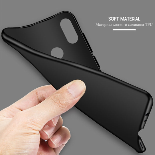 Fashion Luxury Case For Xiaomi Mi8 Case Xiaomi 8 Cover Soft Silicone TPU For Xiaomi Mi 8 SE Explorer Case Back Cover Matte Black