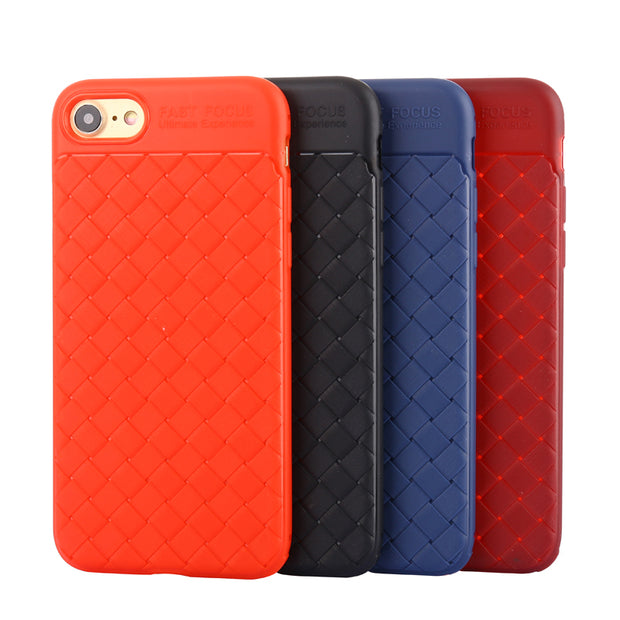 Fashion Soft Weave Back Cover Case For IPhone 5 5S SE 6 6S 7 8 Plus X Ten 10 Back Cover Shell For IPhone X Ten 5 5S 6 7 8 Plus