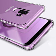 Fashion Transparent Phone Case For Samsung S9 S8 Plus Slim Clear Soft Silicone Shockproof Cover For Samsung S7 Edge A8 Plus 2018