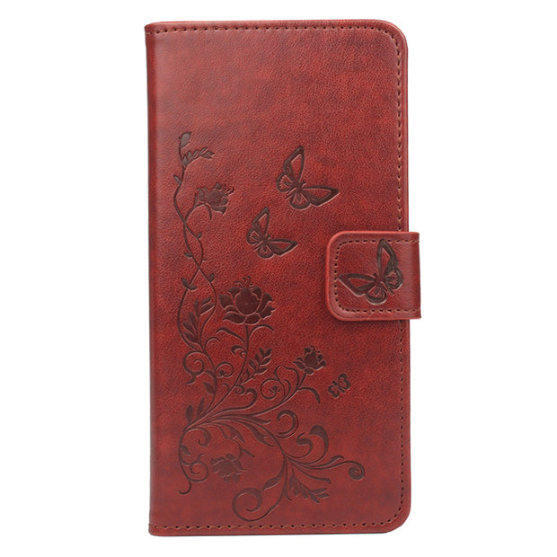 Filp Case For Alcatel Pixi 4 5.5 5012G 5012F Case 3D Printed Flower Flip Luxury Leather Wallet Phone Coque Case Luxury Fall